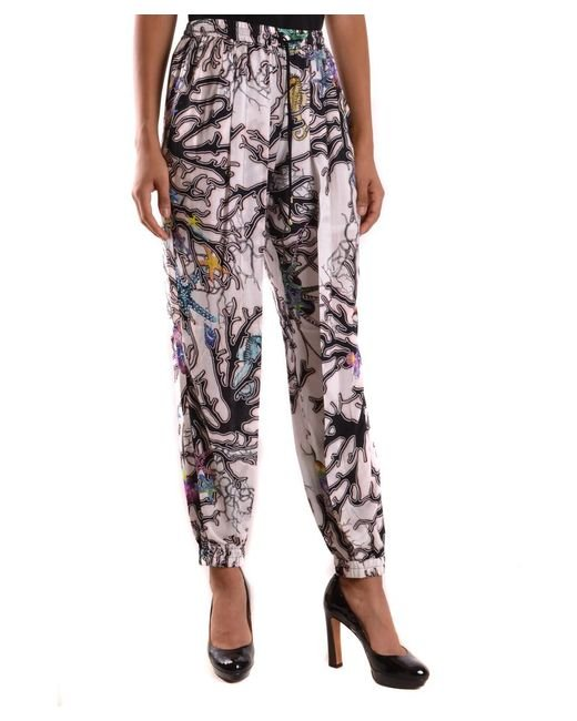 Just Cavalli - Black Women's Mcbi170039o Multicolor Viscose Pants - Lyst