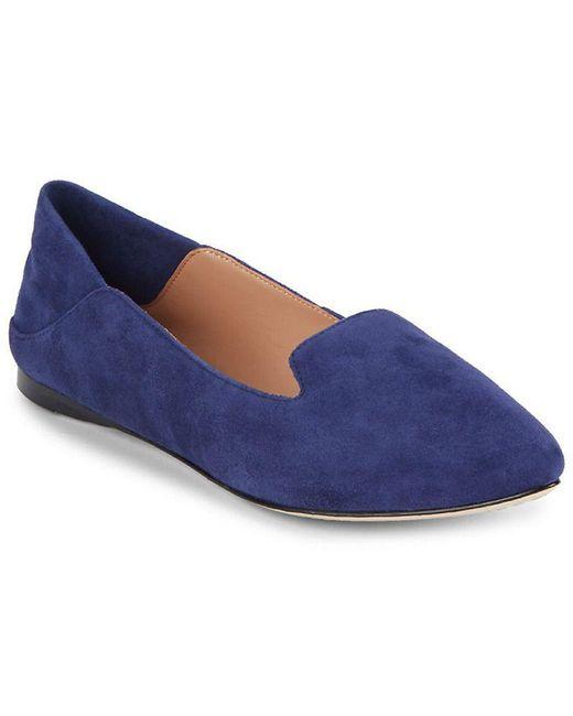 Sigerson Morrison - Blue Valentine Solid Slip-on Leather Flat - Lyst