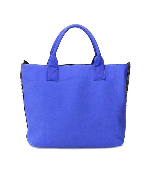 Pinko - Women's Blue Cotton Tote - Lyst