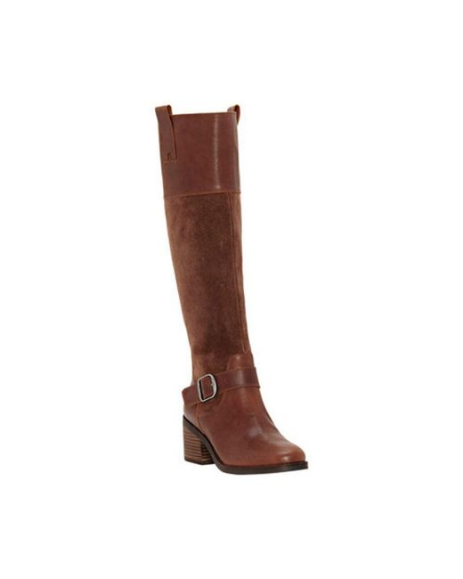 66ac67cf4cf Lyst - Lucky Brand Women s Kailan Wide Calf Knee High Boot in Brown