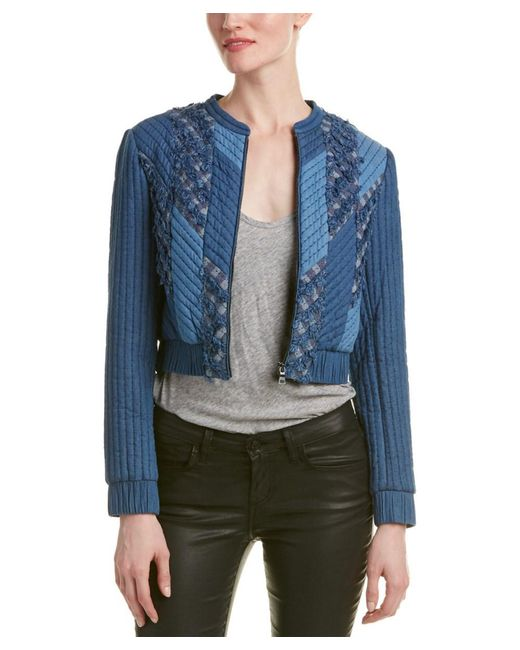 Rebecca Taylor   Blue Quilted Patch Chambray Jacket   Lyst