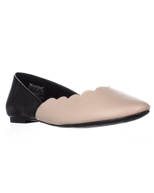 Wanted - Multicolor Kristy Scalloped Ballet Flats - Nude, 7.5 Us - Lyst