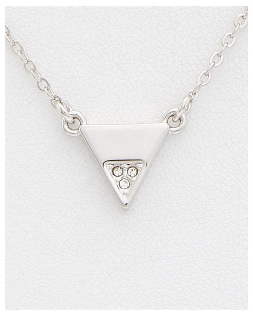 Rebecca Minkoff - Multicolor Crystal Triangle Necklace - Lyst