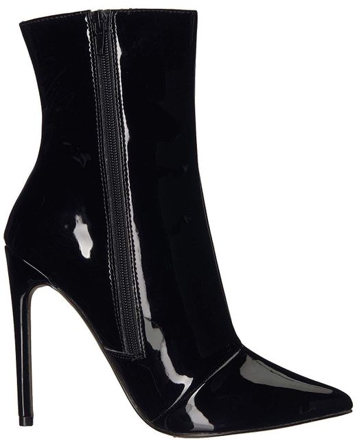 Steve Madden - Black Womens Wagner Leather Pointed Toe Ankle Fashion Boots - Lyst