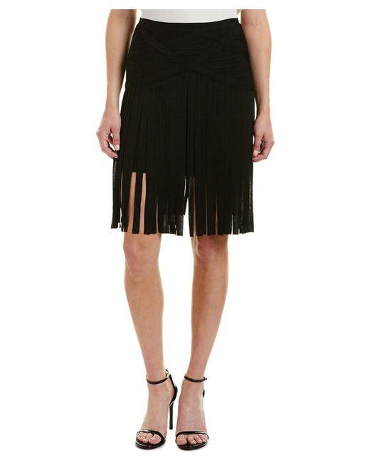 Hervé Léger   Black Bandage Skirt   Lyst