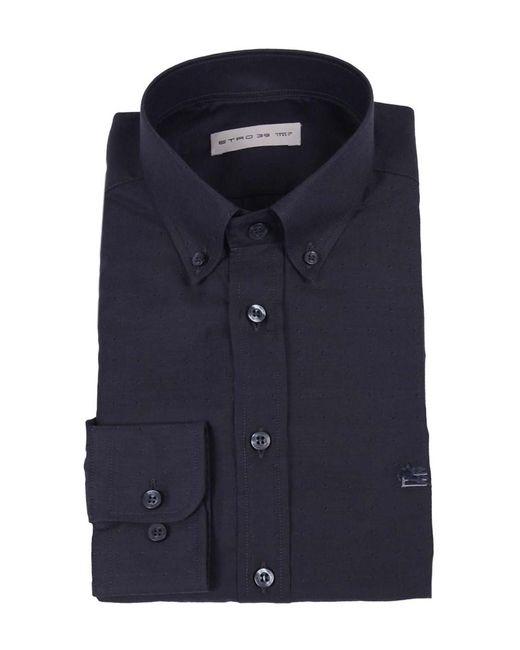 Etro - Gray Men's Grey Cotton Shirt for Men - Lyst