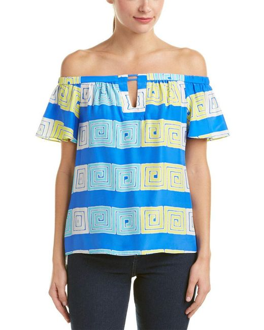 Alice & Trixie - Blue Silk Top - Lyst