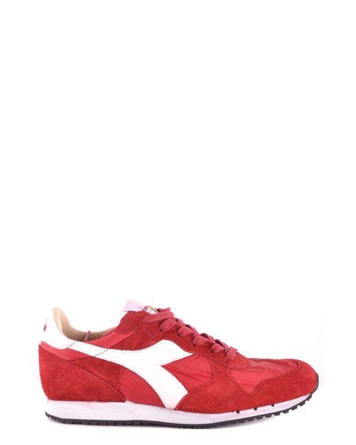 Diadora - Men's Red Suede Sneakers for Men - Lyst