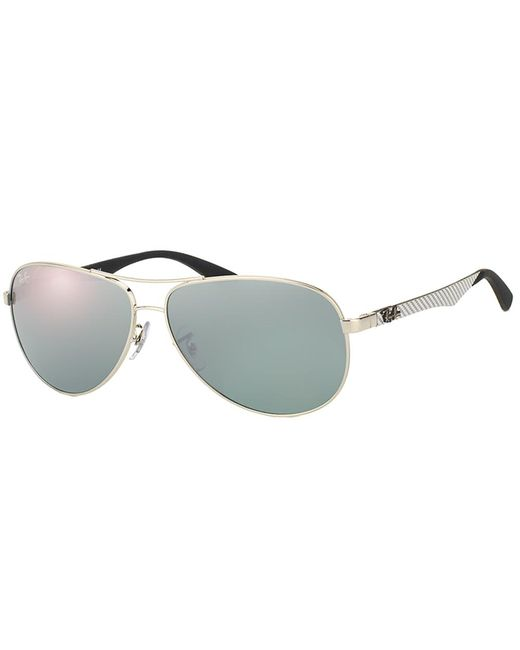Ray-Ban - Metallic Aviator Carbon Fiber Sunglasses - Lyst