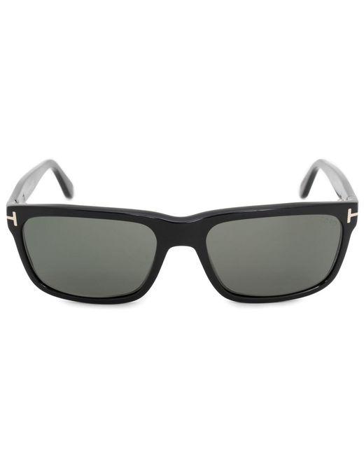 Lyst - Tom Ford Hugh Square Sunglasses Ft0337 01n 55   Black Acetate ...