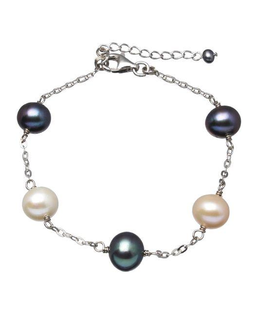 Splendid - Multicolor Tin Cup Sterling Silver Pearl Bracelet - Lyst