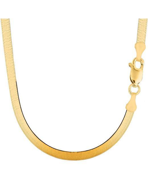 JewelryAffairs - 14k Yellow Gold Imperial Herringbone Chain Necklace, 5.0mm, 20 Inch - Lyst