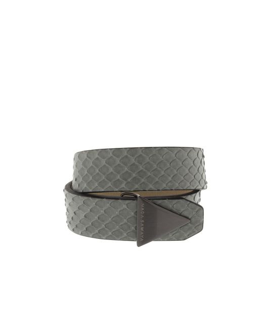 Nada Sawaya | The One - Python And Satin Black Nickel-tone Bracelet | Lyst