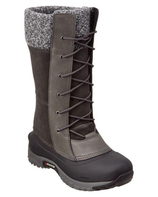 Baffin | Gray Women's Dana Leather Boot | Lyst
