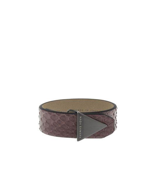 Nada Sawaya - Multicolor The Simple - Python And Satin Black Nickel-tone Bracelet - Lyst