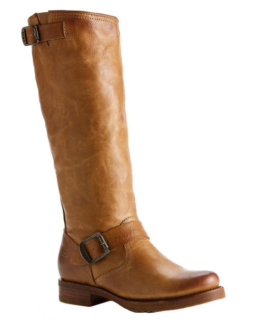 Frye - Brown Veronica Slouch Leather Boot - Lyst