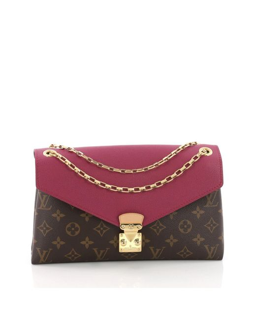 Louis Vuitton - Multicolor Pre Owned Pallas Chain Shoulder Bag Monogram Canvas And Calf Leather - Lyst