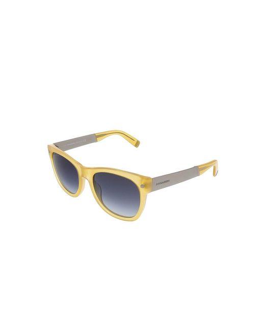 DSquared² - Dq0162/s 39w Translucent Yellow Square Sunglasses - Lyst
