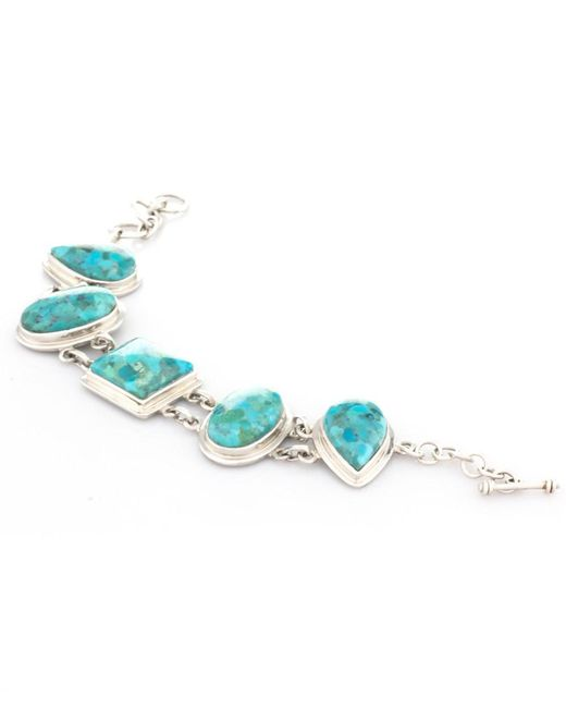 Pangea Mines | Blue Turquoise Adjustable Toggle Bracelet | Lyst