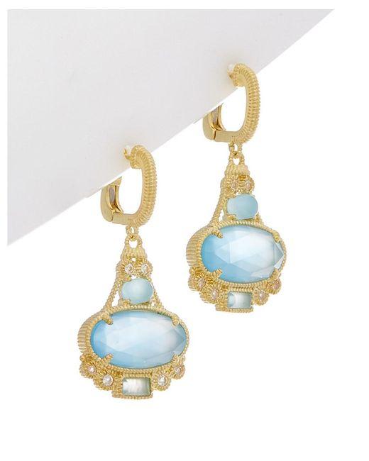 Judith Ripka - Multicolor Aspen 14k Over Silver 7.79 Ct. Tw. Gemstone Drop Earrings - Lyst