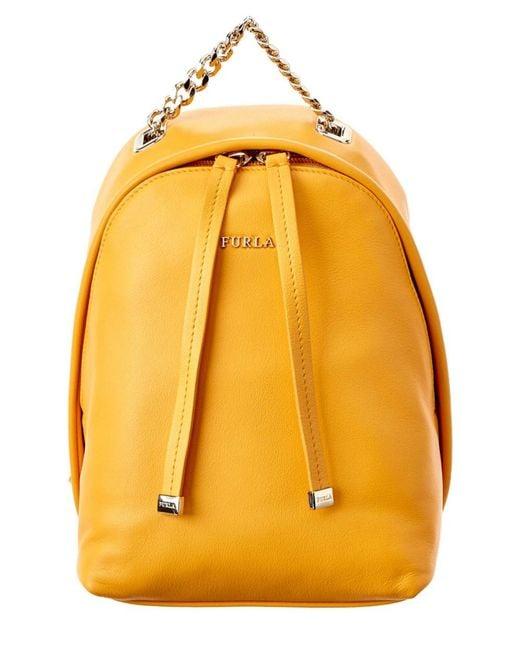 Furla | Orange Spy Bag Mini Leather Backpack | Lyst
