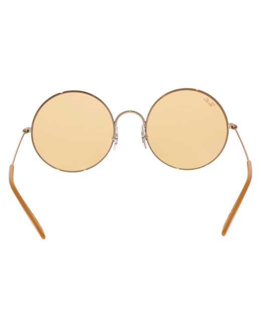 620493bb2f3 Lyst - Ray-Ban Ja-jo Rb3592-9035c6-55 Gold Round Sunglasses in Metallic