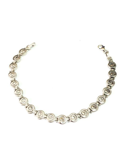 JewelryAffairs - Metallic Sterling Silver Rhodium Plated Greek Spira Bracelet, 7.25 - Lyst