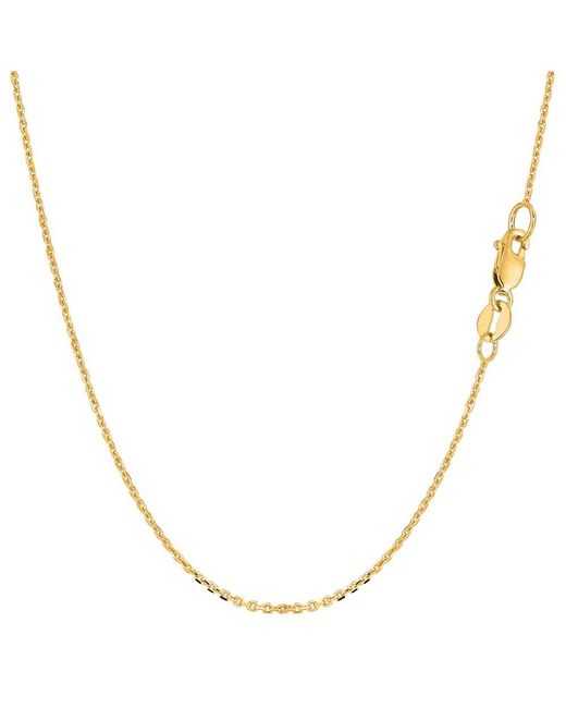 JewelryAffairs | 10k Yellow Gold Cable Link Chain Necklace, 1.1mm, 20 Inch | Lyst