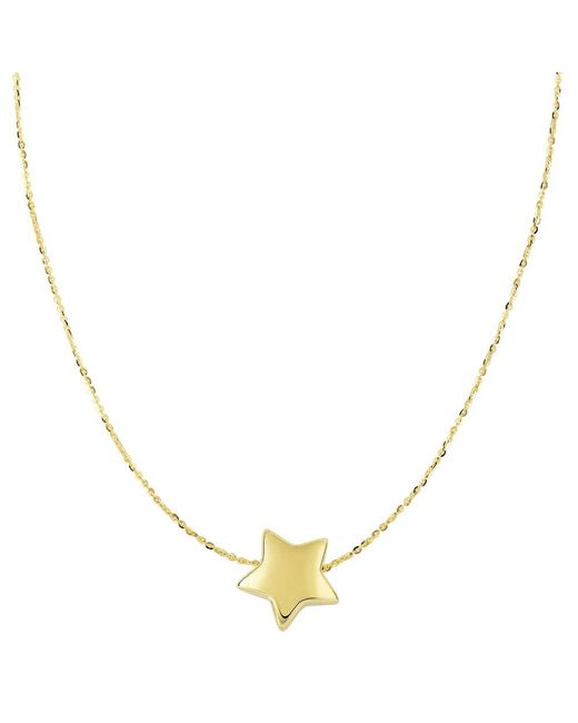 JewelryAffairs - 14k Yellow Gold Sliding Puffed Star Pendant Necklace, 18 - Lyst