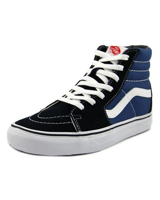 Vans   Blue Sk8-hi Round Toe Canvas Skate Shoe for Men   Lyst