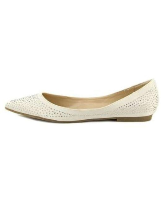 Nina - White Womens Keriann Pointed Toe Loafers - Lyst