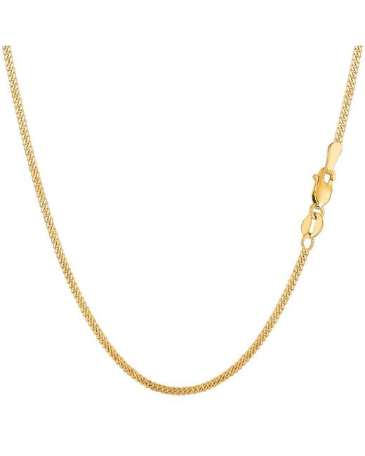 JewelryAffairs - 14k Yellow Gold Gourmette Chain Necklace, 1.5mm, 24 Inch - Lyst