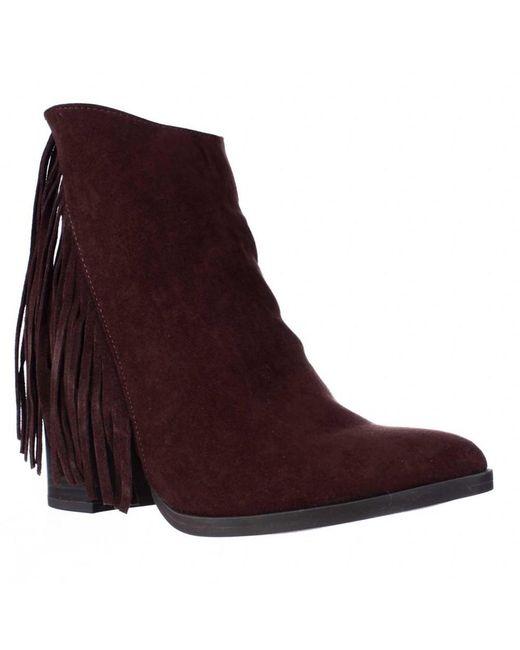 Madden Girl - Brown Shaare Side Fringe Western Boots, Chestnut - Lyst
