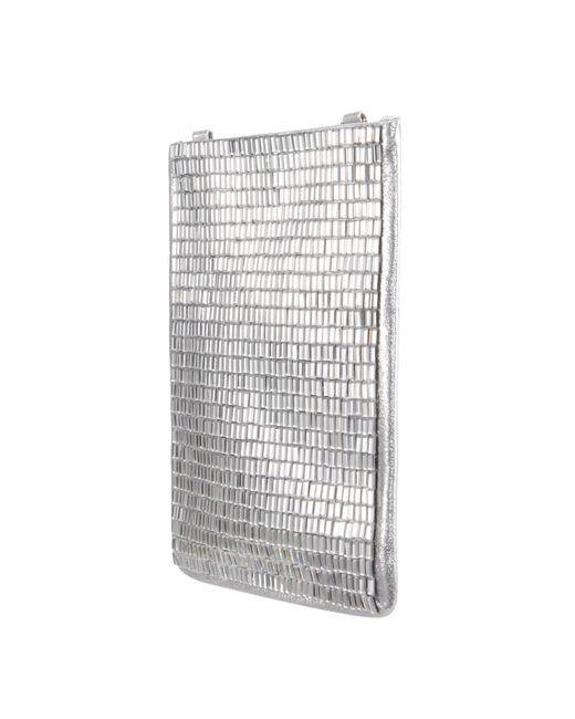 Nina - Metallic Crossbody Phone Case - Lyst
