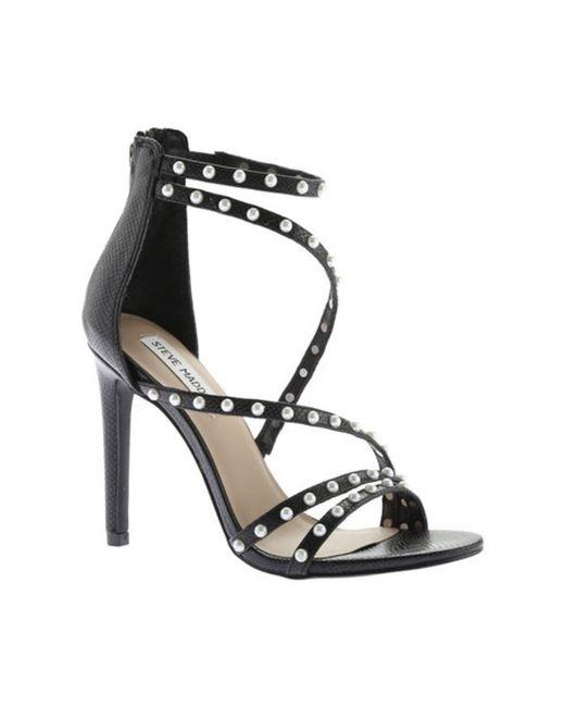 Steve Madden - Black Women's Meg Ankle Strap Sandal - Lyst