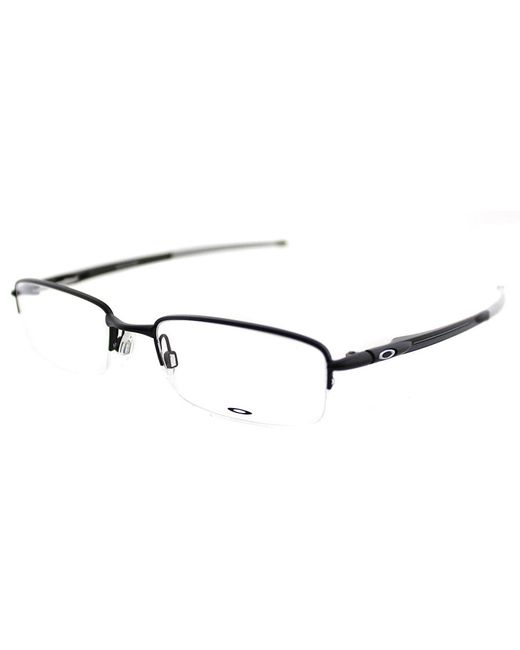Oakley - Black Rhinochaser Semi-rimless Metal Eyeglasses - Lyst