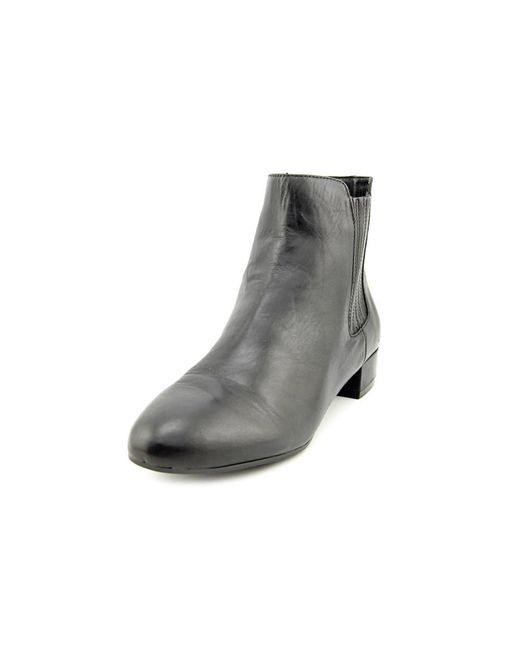 Marc Fisher | Black Kellen Leather Ankle Boot | Lyst