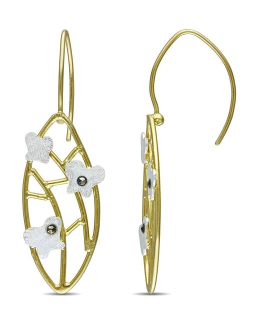Catherine Malandrino   Metallic Lattice Butterfly Marcasite Earrings   Lyst