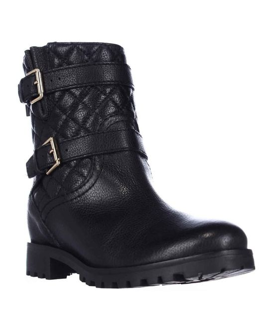 Kate Spade | Kate Spade Samara Quilted Motorcycle Boots - Black | Lyst