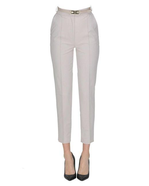 Elisabetta Franchi - Gray Women's Grey Polyester Pants - Lyst