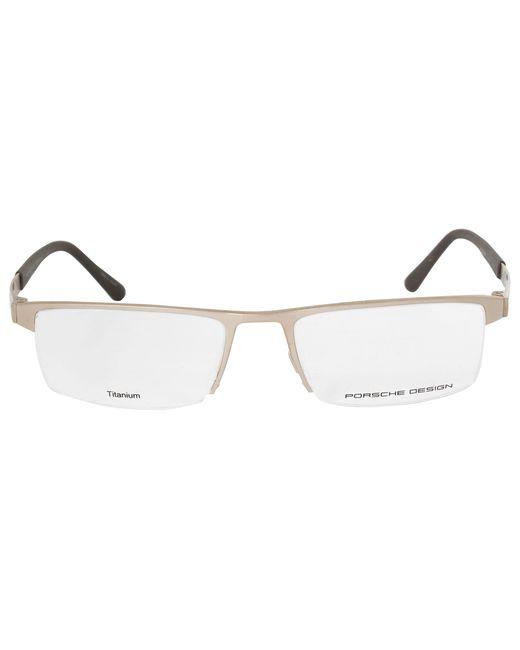 Lyst - Porsche Design P8239 B Rectangular | Matte Gold| Eyeglass ...