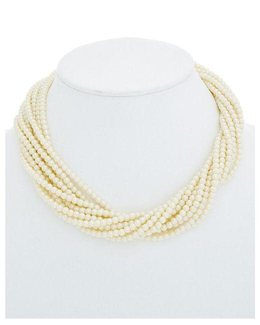 Carolee - Metallic Botanical Garden Necklace - Lyst