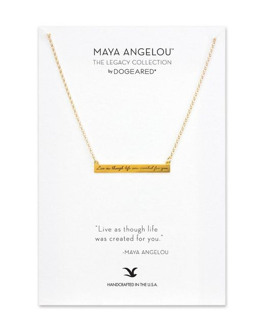Dogeared - Metallic Maya Angelou Collection 14k Over Silver Necklace - Lyst