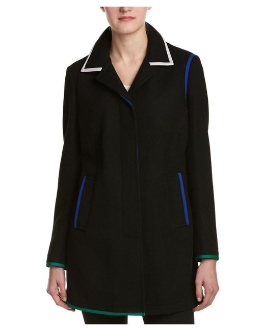 Anne Klein | Black Coat | Lyst