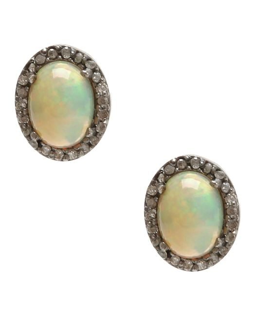 Adornia - Yellow Opal And Champagne Diamond Echo Ii Earrings - Lyst