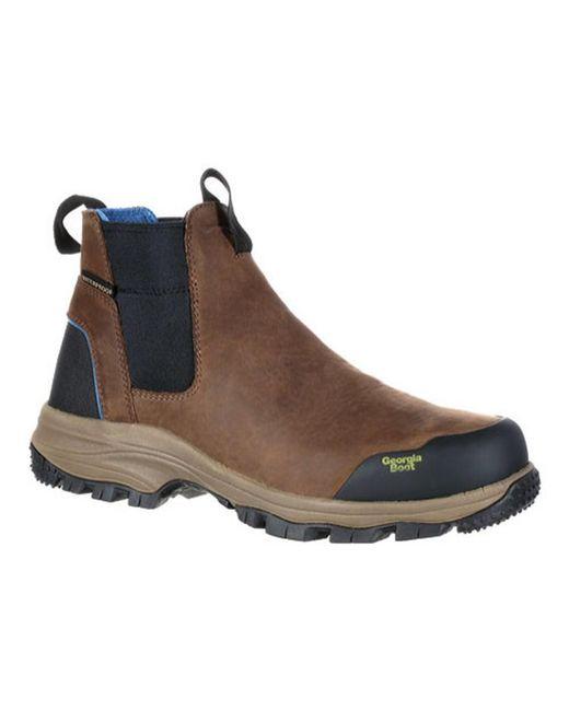 """Georgia Boot - Brown Men's Gb00106 5"""" Bc Chelsea Waterproof Work Boot for Men - Lyst"""