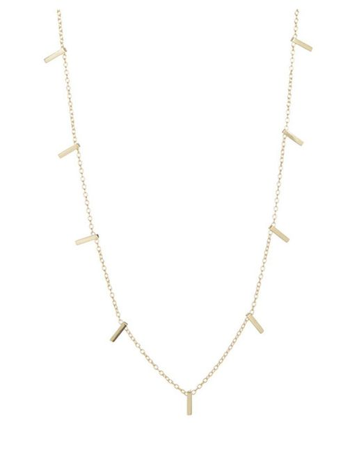 Adornia | Yellow Gold Vermeil Multi Bar Necklace | Lyst