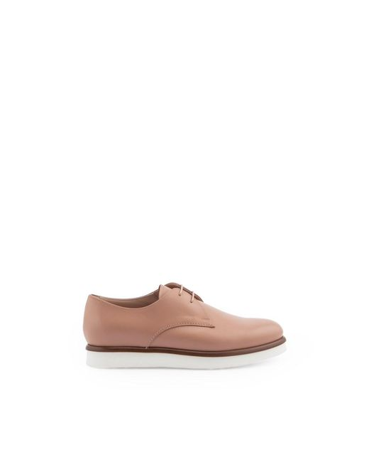 Tod's - Women's Pink Leather Lace-up Shoes - Lyst