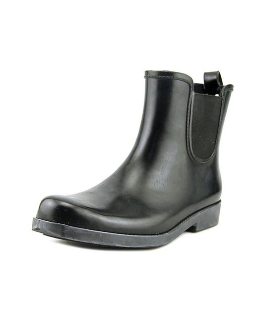 COACH - Red Tyler Shiny Rubber Women Round Toe Synthetic Burgundy Rain Boot - Lyst