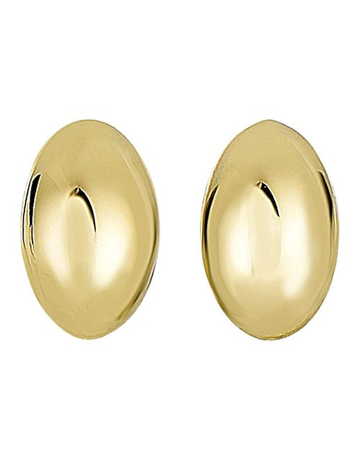 JewelryAffairs - 14k Yellow Gold Shiny Puffed Marquis Shape Stud Earrings, 6 X 10mm - Lyst